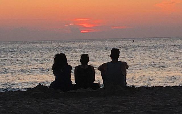 Sunset-sunrise (photo by the author)