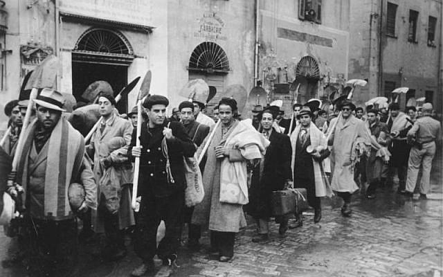 Afrika: Juden müssen arbeiten.- Ohne Ausnahme werden alle männlichen Juden von Tunis zur Arbeitsleistung herangezogen. PK-Aufnahme: Kriegsberichter Lüken Dezember 1942 241-43