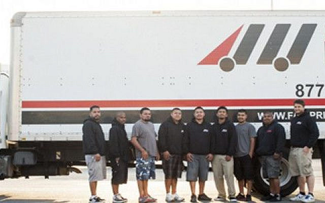 Leon Schwab and his team at Fair Price Movers. (Courtesy)