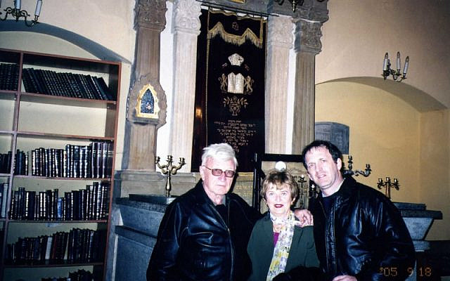 The author and his parents in Krakow, Poland, 2005