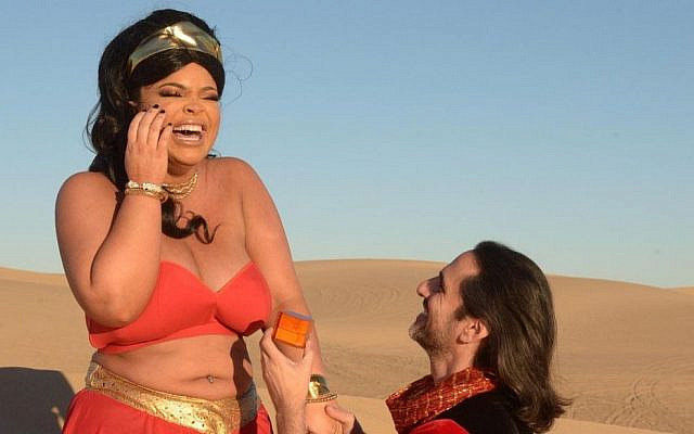 Trisha Paytas in the music video for her song 'I Love You, Moses' (screenshot)