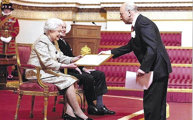Vivian Wineman in a presentation to Her Majesty of the loyal address on her Diamond Jubilee at Buckingham Palace.