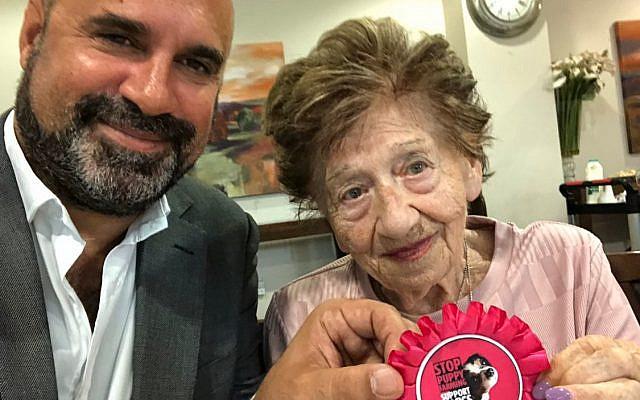 Marc with Grandma Judy (Jewish News)
