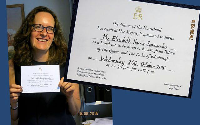 Elizabeth Harris-Sawczenko with her invitation