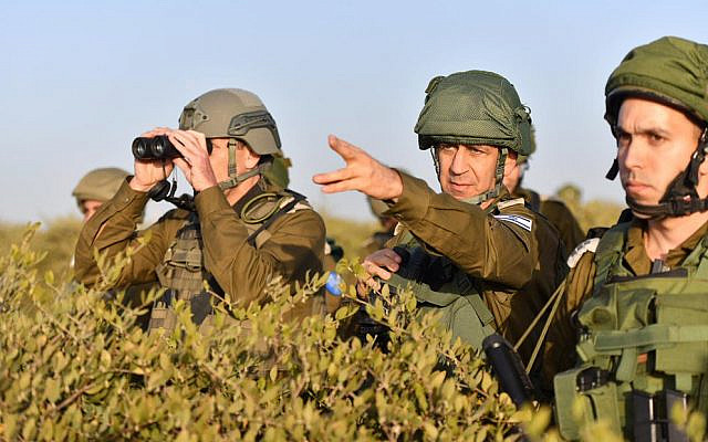 IDF chief Aviv Kochavi visits Southern Command in undated photograph. (Israel Defense Forces)