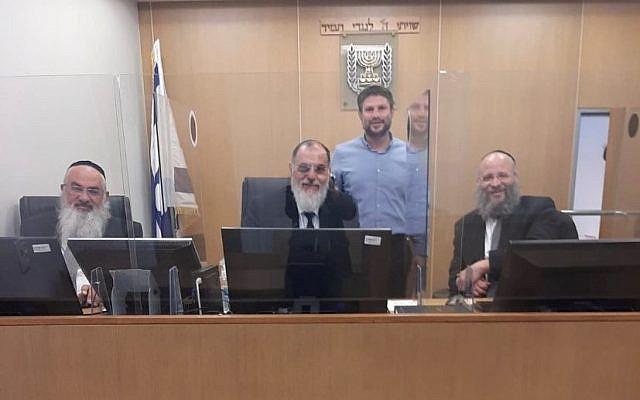 MK Bezalel Smotrich at the Rabbinic Court. (Spokesperson for the Beit Din, Twitter)