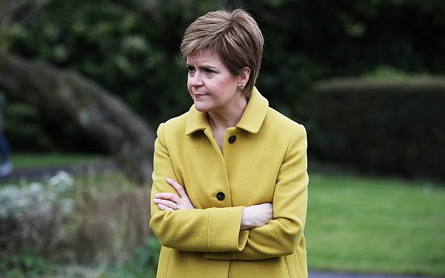 Scottish First Minister and SNP leader Nicola Sturgeon (PA Wire/PA Images / Andrew Milligan) via Jewish News