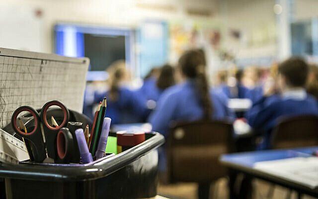 School children in a classroom. Photo credit: Danny Lawson/PA Wire. Via Jewish News