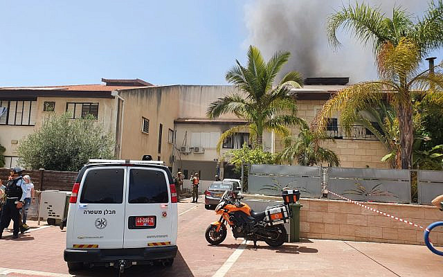 Scene after a rocket struck a residential area in the city of Ashdod. (United Hatzalah) via Jewish News