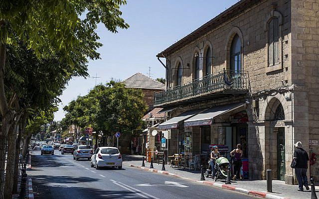 Emek Refaim Street in Jerusalem, on September 1, 2016. (Nati Shohat/Flash90)