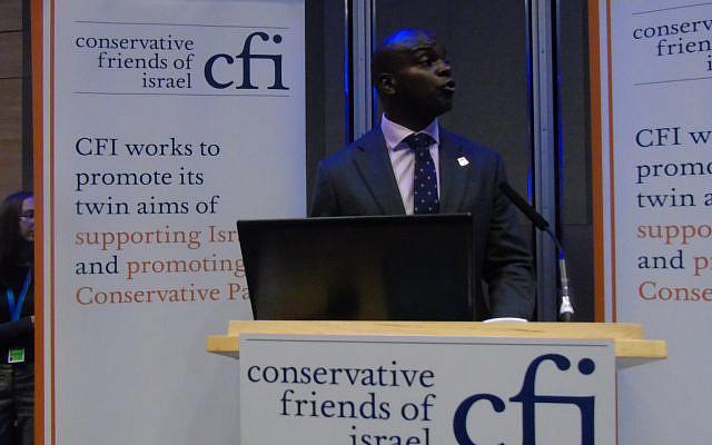 Shaun Bailey at a CFI event (Via Jewish News)