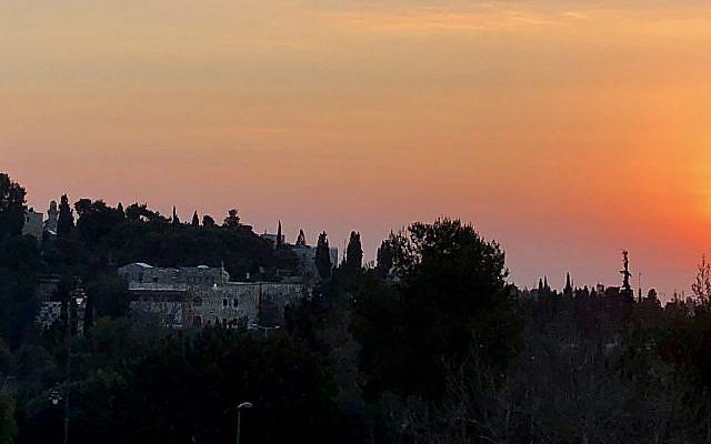 Jerusalem sunrise. (Courtesy)