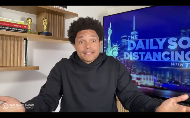 Trevor Noah in a screenshot from the May 11, 2021 episode of the Daily Show.