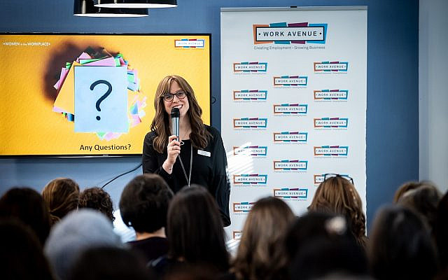 Debbie Sheldon at the Women in the Workplace event, 2020