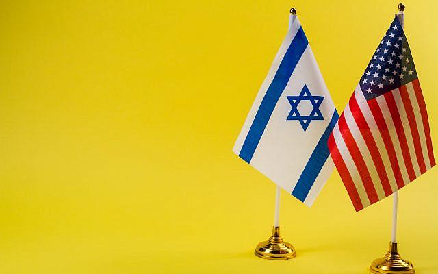 Israel and USA flag