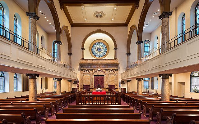 The fact that one synagogue on the Upper East Side of Manhattan can claim both the president and prime minister of Israel as alumni might be a coincidence. Even so, it is not a random one. (Courtesy, Esther Zarnel, Congregation Kehilath Jeshurun)