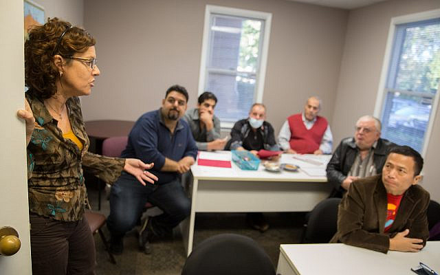 A cultural orientation class for newly arrived refugees at CRRA's office. (courtesy)