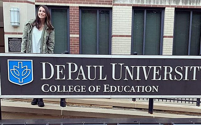 The Author on campus at DePaul University, Chicago