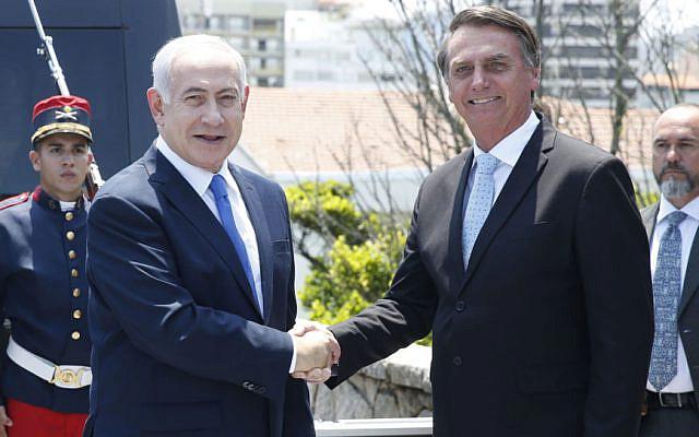 Jair Bolsonaro and Benjamin Netanyahu, in Rio de Janeiro, 2019. Image: Fernando Frazão/Agencia Brasil