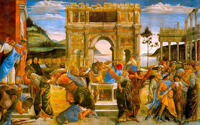 Botticcelli, Sandro. The Punishment of Korah. 1481-82