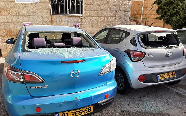 Broken car windows