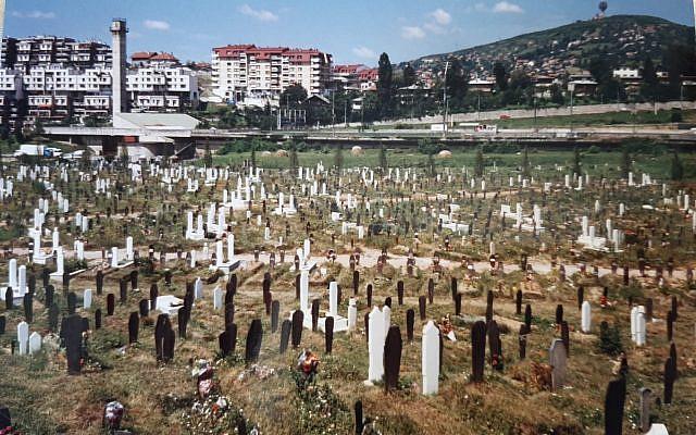 Graves in Sarajevo's Olympic fields (1997) (photo taken by author)