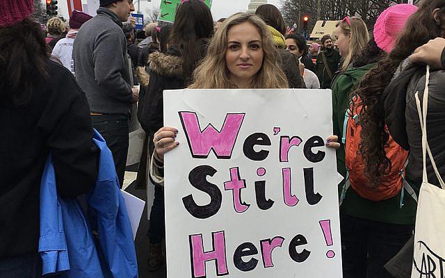 Anna Abramzon at 2017 Women's March in Washington DC