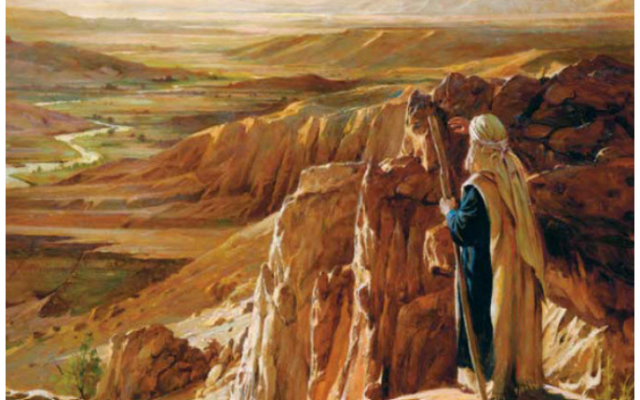 Moses overlooking the Promised Land. (Twitter)