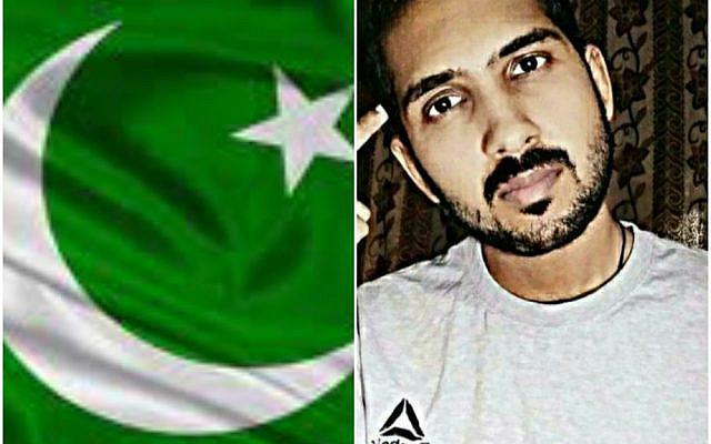 Pakistani blogger Sarmad Iqbal and Pakistani flag ( Source : Sarmad Iqbal)