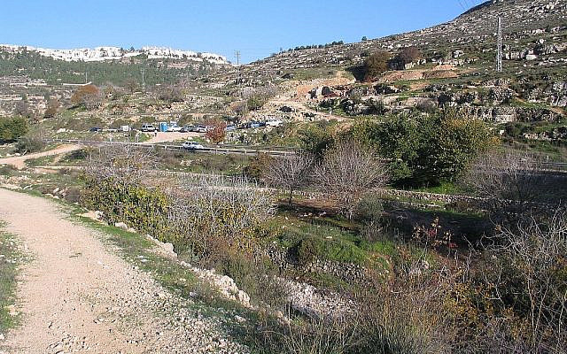 Hilly Canaan can't be irrigated by rivers or canals (Beitar, Wikimedia)