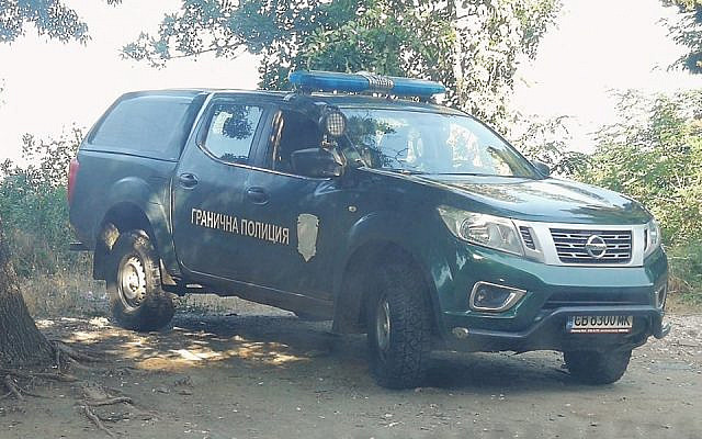 The jeep of the Bulgarian Border Police (courtesy of the author)