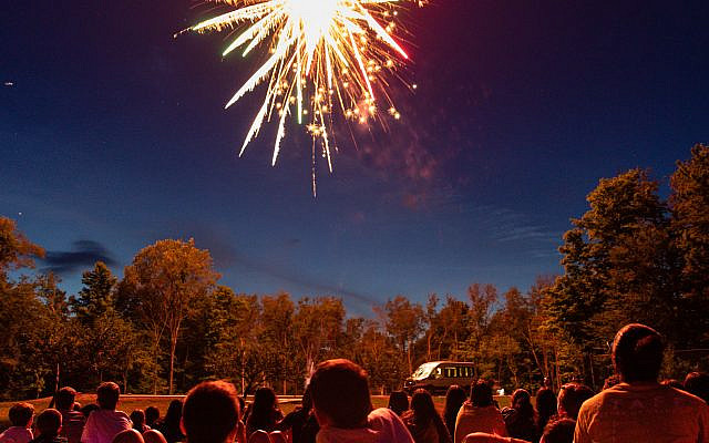 Fireworks at Camp Zeke in Lakewood, PA (photo by Liam Gordon Photography)