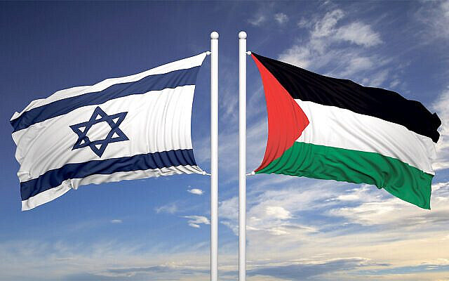 Israeli and Palestinian flags (via Jewish News)