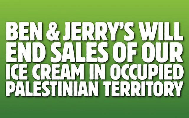 Ben & Jerry´s statement (The Times of Israel).