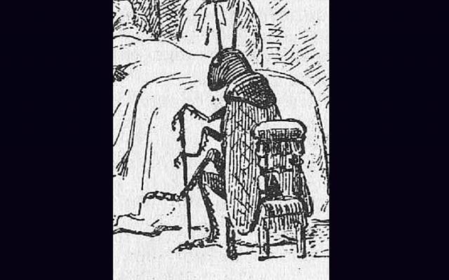 An illustration of The Talking Cricket by Enrico Mazzanti from 'Le avventure di Pinocchio' (The Adventures of Pinocchio) by Carlo Collodi, 1883. (Wikipedia)
