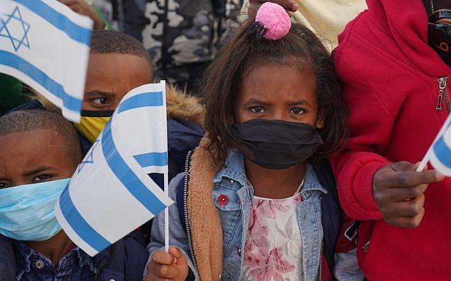 Newly-arrived Ethiopian olim in Israel