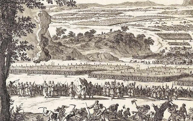 'The army of the twelve tribes, with Moses, the Levites and the Tabernacle,' by Jan Luyken, 1700. Amsterdam Museum (public domain)