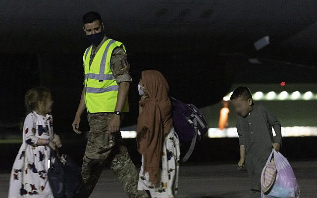 inistry of Defence handout photo of passengers disembarking a Royal Air Force Voyager after arriving at RAF Brize Norton from the Middle East. Boris Johnson and other G7 leaders have failed to persuade the US to keep troops in Afghanistan to continue evacuation efforts past the end of the month. Picture date: Tuesday August 24, 2021. via Jewish News