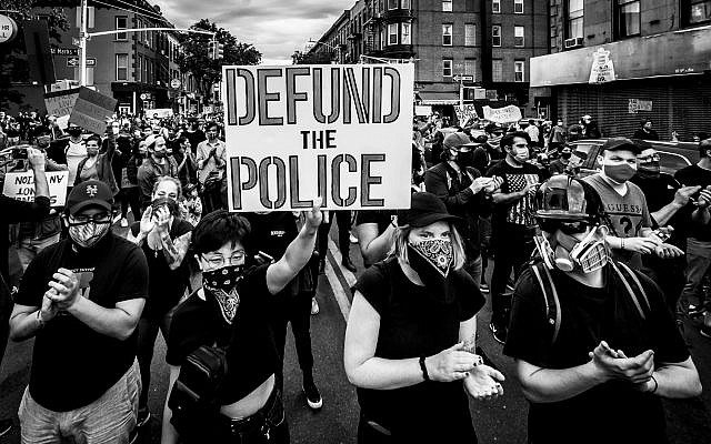 Thousands of protesters filled the streets of Brooklyn in a massive march to demand justice for George Floyd on June 2.  Erik McGregor / LightRocket via Getty Images file