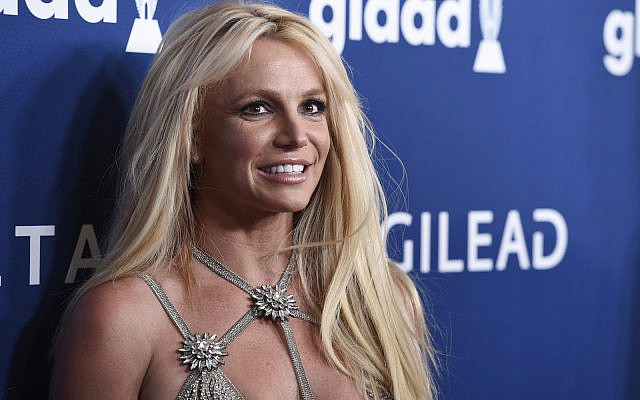 Britney Spears arrives at the 29th annual GLAAD Media Awards on April 12, 2018, in Beverly Hills, California. (Photo by Chris Pizzello/Invision/AP, File)