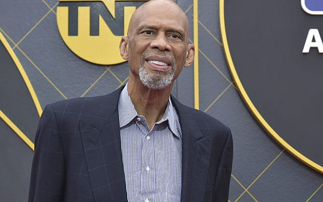 Kareem Abdul-Jabbar arrives at the NBA Awards on Monday, at the Barker Hangar in Santa Monica, California, June 24, 2019. (Richard Shotwell/Invision/AP)