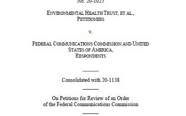 Opening page of the Decision by the Court of Appeals against the FCC (reproduced from https://www.cadc.uscourts.gov/internet/opinions.nsf   Copyright : Public Access to Court Electronic Records)