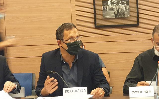 MK Moshe Tur-Paz in committee meeting (Courtesy)