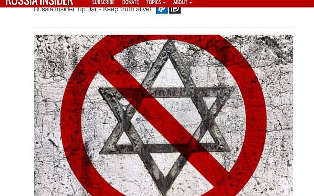 """An anti-Semitic image on """"Russia Insider"""" website."""