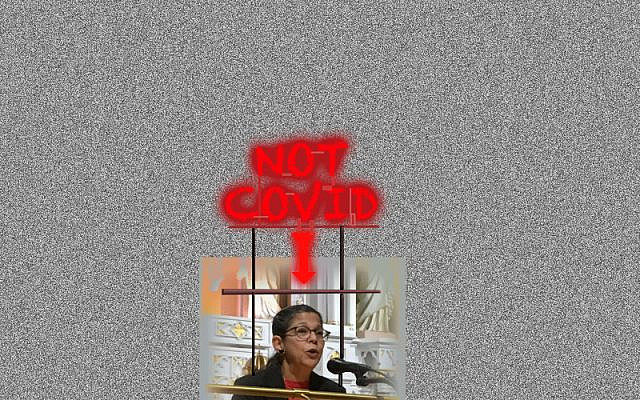Not COVID - Artwork by Audrey N. Glickman.