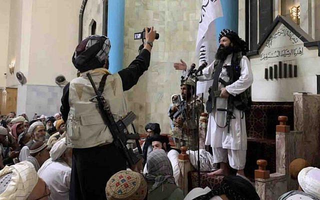 Khalil-ur Rehman Haqqani in Kabul. Original image tweeted by Sarfaraz1201