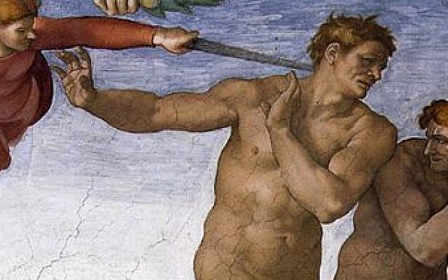 'Fall and Expulsion from the Garden of Eden' (detail) - fresco, Michelangelo, 1509-1510, Sistine Chapel, Public Domain