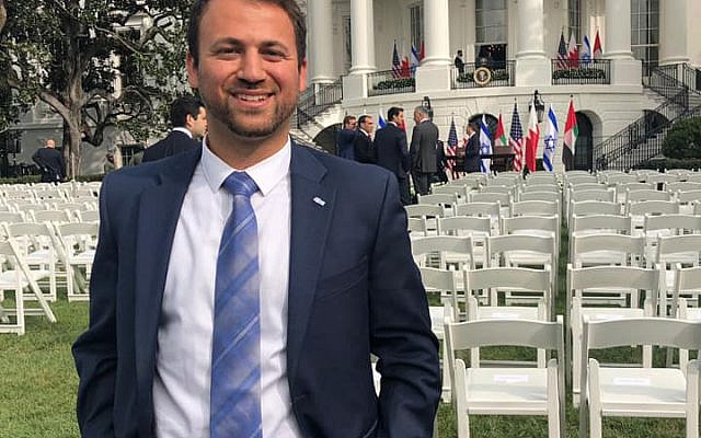 Photo from September 15, 2020, when I first arrived to the White House Lawn to witness the signing of the Abraham Accords.