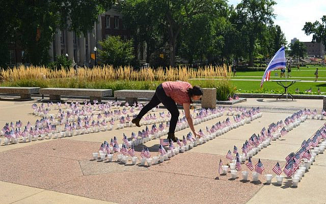 Photo from the first 9/11 memorial SSI organized at the University of Minnesota, back in 2013.