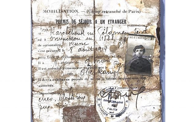 The author's grandmother's French residence permit from 1914 includes a spelling of her husband's original name, Karolchouk, before he and his brothers changed it to Carroll. (Courtesy)
